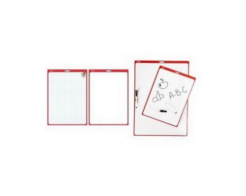 Доска Hatber для рисования и заметок двухсторонняя 240*340мм с маркером