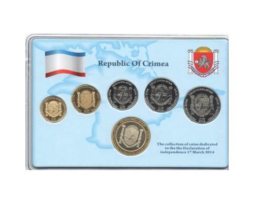 Набор из 6 монет Республика Крым 2014 /БЕЗ СКИДКИ/