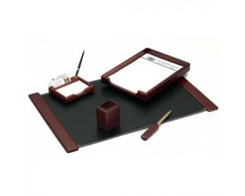 Набор настольный подарочный деревянный 5 предметов Good Sunrise Красное дерево