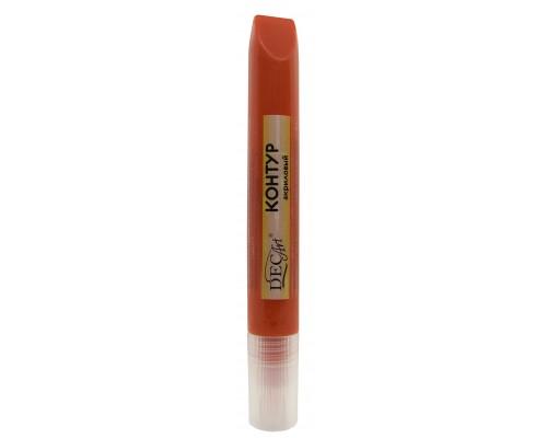 Контур акриловый DecArt оранжевый, туба 12мл