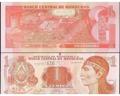 БЕЗ СКИДКИ Банкнота 1 лемпиро Гондурас 2014 KR