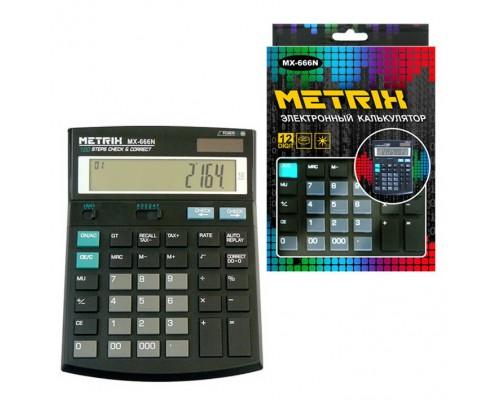 Калькулятор METRIX MX-666N настольный 12 разрядов