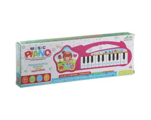 Инструмент музыкальный на батарейках, электроорган 32х11х3см MLS-011