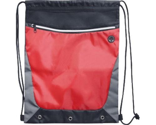 Мешок для обуви deVENTE 35x44 см, на веревочной завязке, черная с серым и красным для мальчика