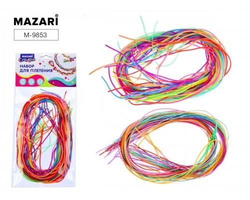Набор для изготовления браслета COLORS : 25 цветных шнуров длиной 80 см., 8 цветов ассорти