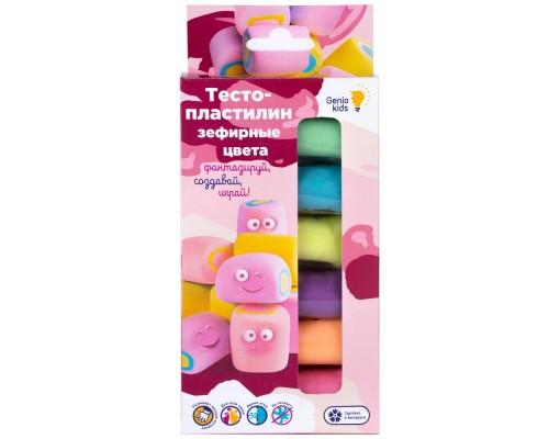 """Набор для детской лепки """"Тесто-пластилин 6 цветов. Зефирные цвета"""""""