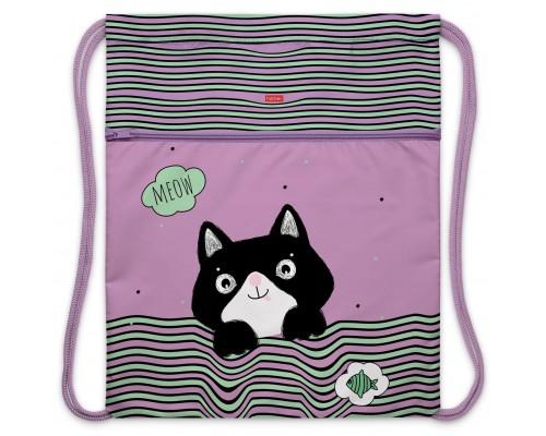 Мешок для обуви Hatber 1 отделение MEOW-Смешной котик для девочки