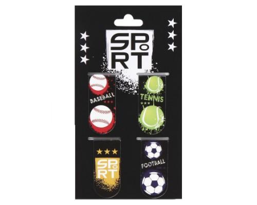 Закладка магнитная 4шт 25*55 картон Sport КОКОС 205619